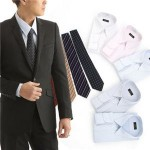 銀座・丸の内のOL100人が選んだワイシャツ&ネクタイ10点セット 50261 M(5色組)